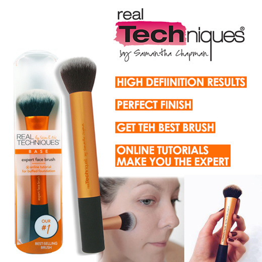 real techniques flawless face brush