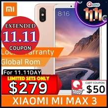 [Extended 11.11 COUPON] XIAOMI MI MAX 3 64GB PLAYSTORE INSTALLED / EXPORT SET / 1MNTH FREE WARRANTY