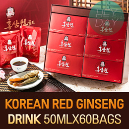 Korean Red Ginseng Drink 50ml x 30packs/60 Pouch/Healthy Drinks/Healthy Food/ Korean Natural Health