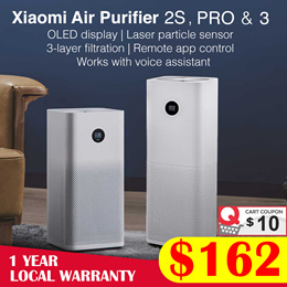 【Official Store】 Xiaomi Air Purifier 2S // Pro | OLED Screen Display | 500m³/h CADR | Local Warranty
