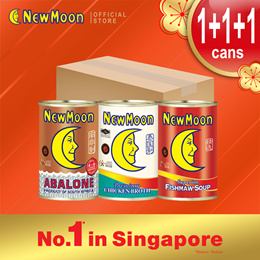 NEW MOON 3s Steamboat SET - South Africa Braised Abalone 4-6pcs 400g + Chicken Broth + Fish Maw Soup