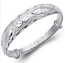 Po-silver bracelet sterling silver bracelet female dragon and her mother middle-aged man sliding fine silver bracelet