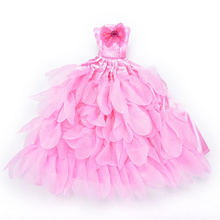 Evening Dress For Barbie Doll Wedding Dress Furniture For Dolls Puppet Clothes For Barbie Dolls