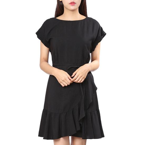ジジピエクスの裾フリルアンバランスワンピースGHC8OP822F 面ワンピース/ 韓国ファッション