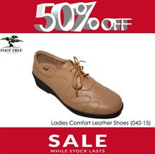 [FootTree] Ladies Comfort Leather Shoes Lace [SKU 376-4]/Beige
