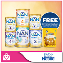 [Bundle Of 6 PROMO] Nestle Nan OPTIPRO® x 6 cans [*FREE Cinnamon Graham Animal Crackers]
