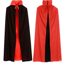 Halloween costume adult collar black and red cloak vampire cape cloak wear on both sides wizard 1.4