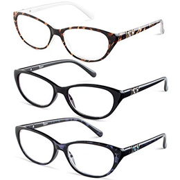 Cateye Reading Glasses +1.75 3 Pack