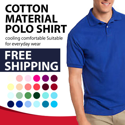 11afea3cbdd Cotton Material Polo Shirt - cooling comfortable Suitable for everyday wear