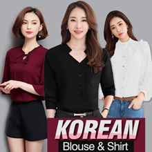 JFASHION KOREAN OFFICE BLOUSE AND SHIRT COLLECTION