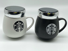 STAR BUCKS Design - Ceramic Mug with Screw Lid