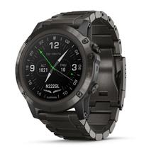 Garmin D2 Delta PX  carbon gray DLC titanium with DLC titanium band  black silicone watch band