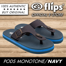 ★NAVY★[Flips] Pods Sports Sandals/Comfort Sandal/Contoured Footbed/Water Repellent/Sports Sandals