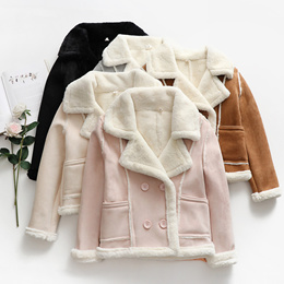 Clearance exports Japan ladies jacket faux fur available fabric bursting cashmere warm slim