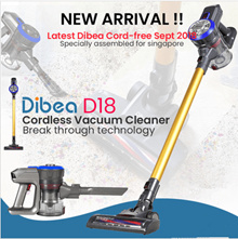 Dibea D18 Lightweight Cordless Handheld Stick Vacuum Cleaner with Motorized Brush