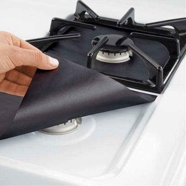 MARYSホームクリーニング用キッチンツール用再使用可能ガスレンジストーブトップバーナープロテクターライナーカバーwmwC1