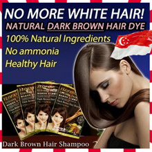 [4K reviews FREE SHIPPING] KOREA FORMULATION NO.1 - YLOFANG DARK BROWN HAIR DYE SHAMPOO ginseng