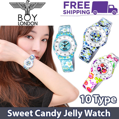 ?GENUINE?[BOY LONDON] 10 Type Premium Casual Watch / Sweet Candy Jelly Watch Collection / Women Watch / Flower Watch / Korean Best Selling Fashion Watch / Free Shipping / Flat Price Deals for only S$59.8 instead of S$0