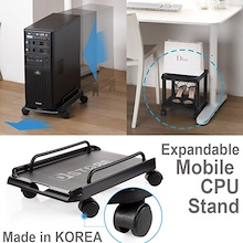Mobile Easy Move PC/MAC Trolly/CPU Laptop Stand Holder/Computer Tower Cart/Desk Shoes Rack/Korea