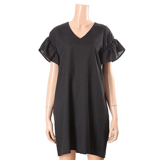 オチョクベルトオプション小売フリルのワンピース71553182 面ワンピース/ 韓国ファッション