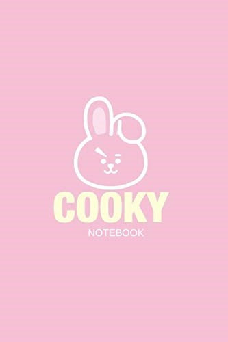 【Direct from USA】 KPOP BTS BT21 CHARACTER COOKY NOTEBOOK for BIAS JUNGKOOK  OPPA: Pink Bunny Blank Li