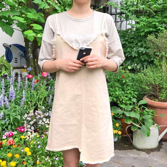 あっかんべーショップ手術ワンピースティーSET 塔/袖なしのワンピース/ 韓国ファッション