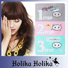 [Holika Holika] (sg) Pig Nose Clear Black Head 3-step Kit 17g * 3ea