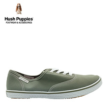 Hush Puppies SG Limited Edition Charley Canvas Sneakers (Mens-Green)