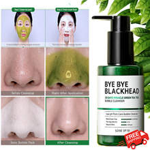 SOMEBYMI BYE BYE BLACKHEAD 30 DAYS MIRACLE GREEN TEA TOX BUBBLE CLEANSER Korea Top facial clean