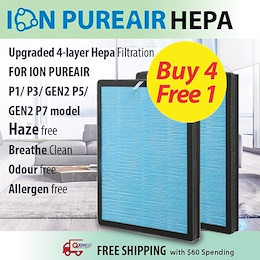 ★ION PUREAIR Hepa Filter for P1/ P3/ Gen 2 P5/ P7★Buy 4 Free 1!★Upgraded And Improved Design!